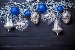 Weihnachtsneues Jahr-Hintergrund Stockbilder