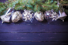 Weihnachtsneues Jahr-Hintergrund Stockfotos