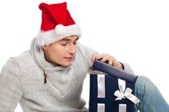Weihnachtsneugier Stockfotos