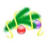 Weihnachtsniederlassung mit Bällen. Lizenzfreie Stockfotos