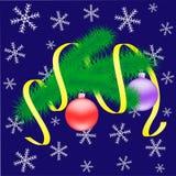 Weihnachtsniederlassung mit Bällen. Stockfotos