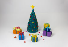 Weihnachtsniederlassung und -glocken Lizenzfreie Stockfotos