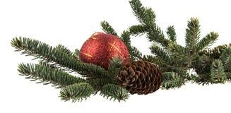 Weihnachtsniederlassung und -glocken Lizenzfreie Stockfotografie
