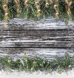 Weihnachtsniederlassungen mit Verzierungen Lizenzfreie Stockfotos