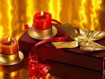 Weihnachtsnoch Leben mit Dekorationen Lizenzfreie Stockfotografie