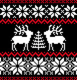 Weihnachtsnordisches Muster auf Schwarzem