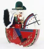 Weihnachtsnußknacker auf einem Pferd Stockbilder