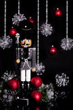 Weihnachtsnussknacker Houndstooth-Jacke Stockbilder
