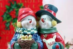 Weihnachtspaar-Nahaufnahme Stockfotos