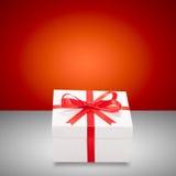 weihnachtspakete подарка на рождество кладет тесемки в коробку подарка Стоковые Изображения