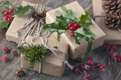 weihnachtspakete подарка на рождество Стоковое Изображение RF