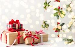 weihnachtspakete подарка на рождество стоковое фото
