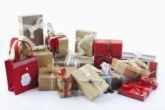Weihnachtspakete Stockfoto