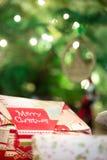 Weihnachtspakete - aanwezige Kerstmis Stock Afbeelding