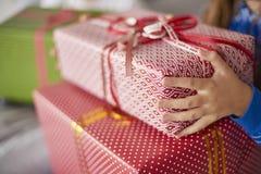 Weihnachtspakete - aanwezige Kerstmis Stock Fotografie