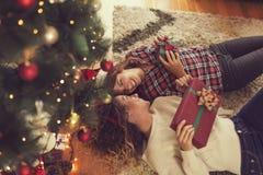 Weihnachtspakete - cadeau de Noël Photo libre de droits