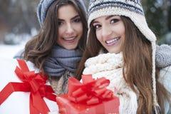Weihnachtspakete - cadeau de Noël Photographie stock libre de droits
