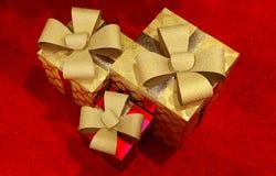 Weihnachtspakete - cadeau de Noël image stock