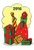 Weihnachtspakete - presente de Natal ilustração do vetor