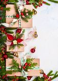 Weihnachtspakete - regalo de Navidad imagen de archivo