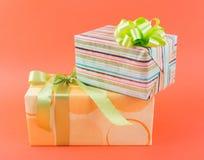 Weihnachtspakete - regalo de Navidad Fotografía de archivo