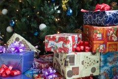 Weihnachtspakete - regalo de Navidad Imágenes de archivo libres de regalías