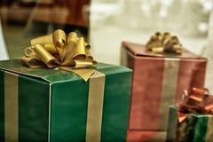 Weihnachtspakete - regalo di Natale Fotografie Stock Libere da Diritti