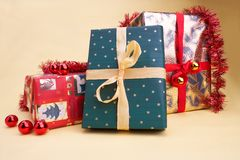 Weihnachtspakete - Weihnachtsgeschenk Stockfotografie