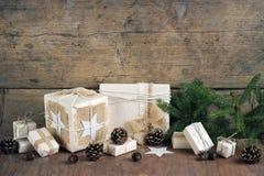 Weihnachtspakete - Weihnachtsgeschenk Lizenzfreie Stockbilder
