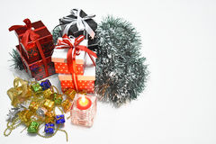 Weihnachtspakete - Weihnachtsgeschenk Lizenzfreies Stockfoto