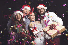 Weihnachtspakete - Weihnachtsgeschenk Stockbilder