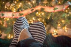 Weihnachtspantoffel Stockfoto