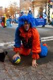Weihnachtsparade Clown-Acts Silly Ins Atlanta lizenzfreie stockbilder