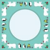 Weihnachtsparadefreunde Stockfoto