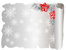 Weihnachtspergament Stockfotografie