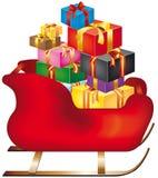 WeihnachtsPferdeschlitten Lizenzfreies Stockfoto