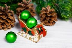 WeihnachtsPferdeschlitten Stockbilder