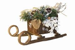 WeihnachtsPferdeschlitten Stockfotos