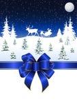 Weihnachtspferdeschlitten Stockfotografie
