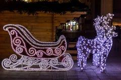 Weihnachtspferdeschlitten Lizenzfreie Stockfotos