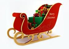 WeihnachtsPferdeschlitten mit Geschenken vektor abbildung