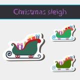 WeihnachtsPferdeschlitten von Weihnachtsmann Stockbilder