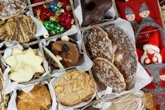 Weihnachtsplätzchen, glaubten Verzierungen und Weihnachten Angel Closeup stockbild