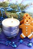 Weihnachtsplätzchen, Plätzchen chelovechki. Stockfotografie
