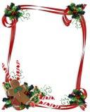 Weihnachtsplätzchen-und -festlichkeiten Rand Lizenzfreies Stockfoto