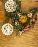 Weihnachtsplätzchen von oben lizenzfreies stockbild