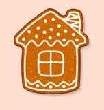 Weihnachtsplätzchenhauskuchen-Vektorsüßspeisen gekocht lizenzfreie abbildung