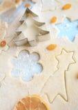 Weihnachtsplätzchenteig Stockfotos