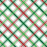 Weihnachtsplaid Lizenzfreies Stockfoto