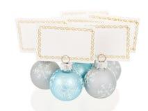 Weihnachtsplatz-Kartenhalter-Gruppenansicht Stockfotos